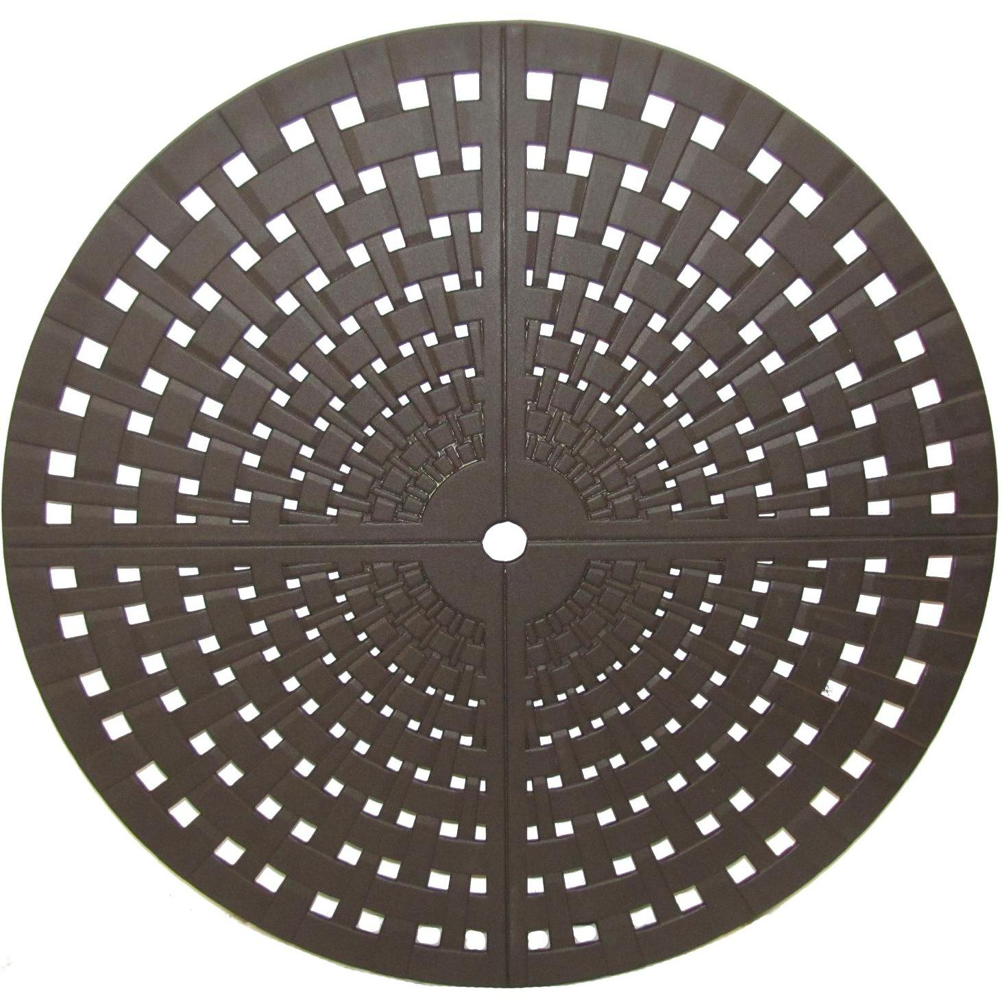 Meadowcraft 32-Inch Round Cast Aluminum Woven Patio Table Top With Umbrella Hole
