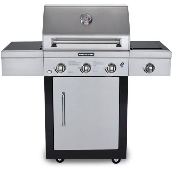 Kitchen Aid Bbq Grill: KitchenAid 25-Inch Propane Gas Grill On Cart With Side Burner