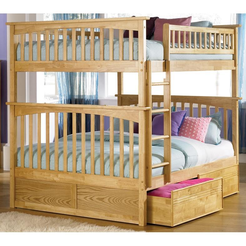 Atlantic Furniture 2021500 Columbia Twin / Full Bed Natural Maple