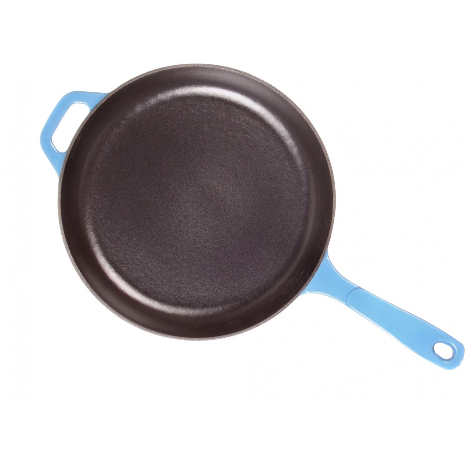 Lodge Skillets Caribbean Cast Iron Enamel Skillet, Gradated Blue - EC11S33