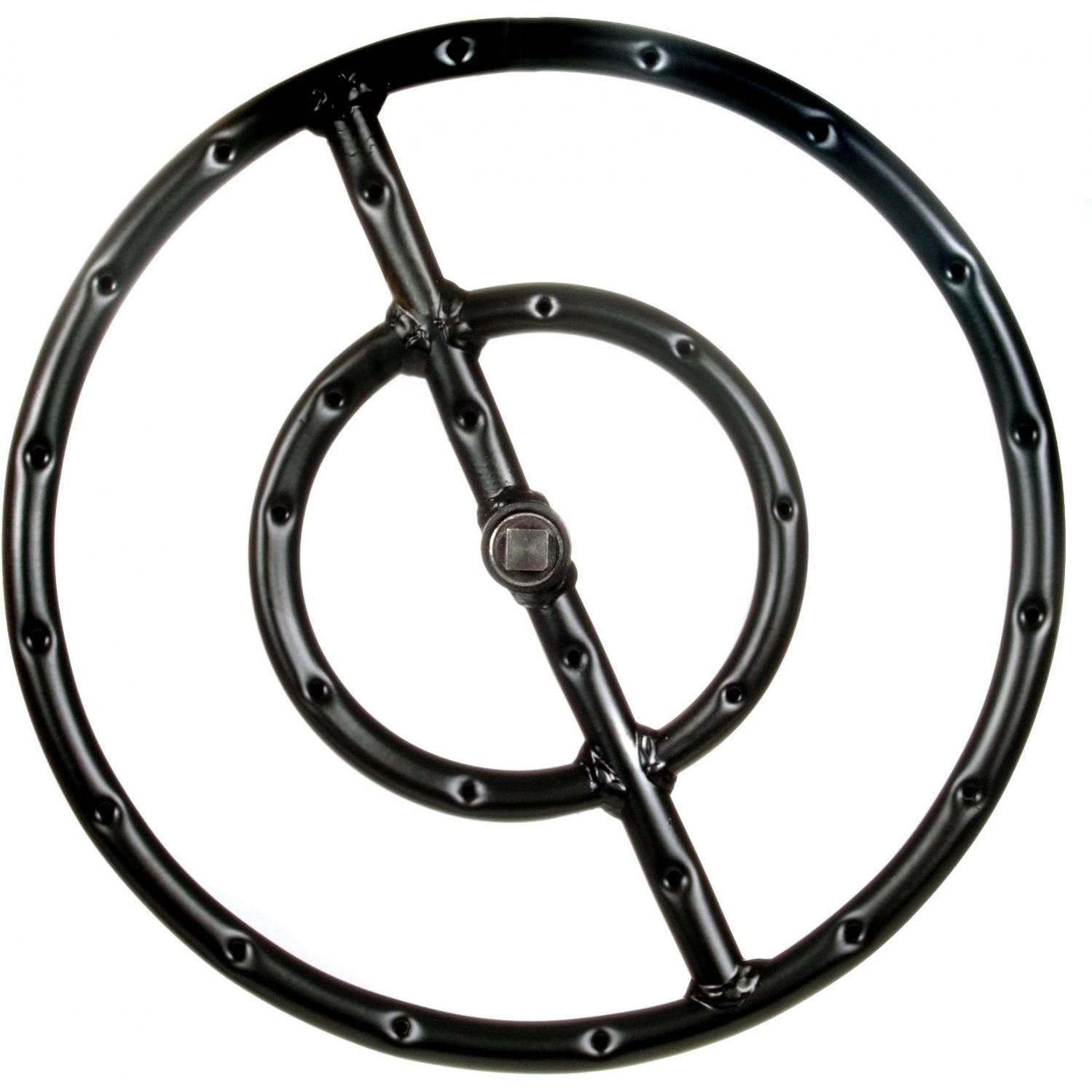 12 Inch Round Double Propane Fire Pit Ring
