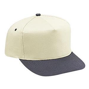 Otto Cap Cotton Twill Pro-Style Sport Cap - Black / Natural, Discount ID 31-070-0331