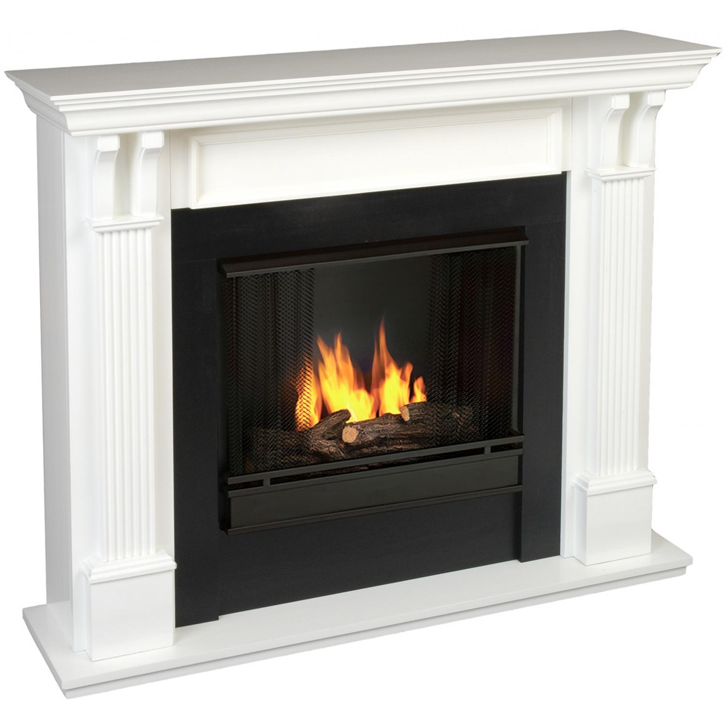 Real Flame Ashley 48-Inch Gel Fireplace - White