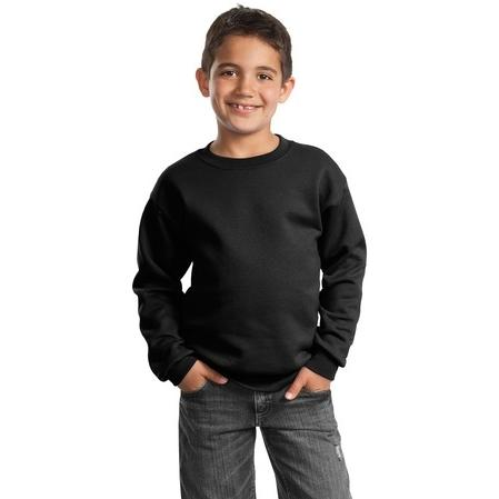 Port & Company Youth Crewneck Sweatshirt Large - Black
