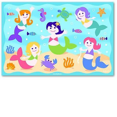 Olive Kids Laminate Placemat - Mermaids