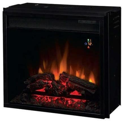 ClassicFlame 18EF022GRA 18 Inch Fixed Front Electric Fireplace Insert With Backlit Display And Remote - Black