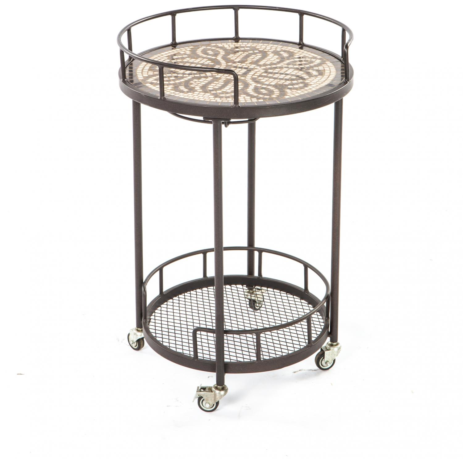 Alfresco Home Orvieto Mosaic Outdoor Serving Cart at Sears.com
