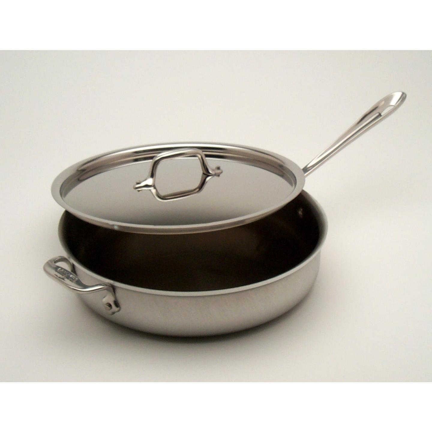 All-Clad MC2 Stainless 3-Quart Saute Pan With Lid