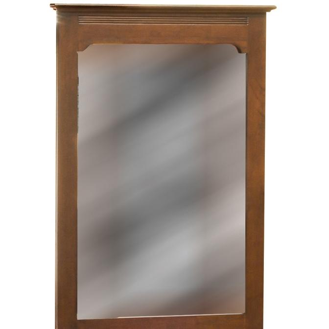 Atlantic Furniture 69004 Portrait Mirror - Antique Walnut