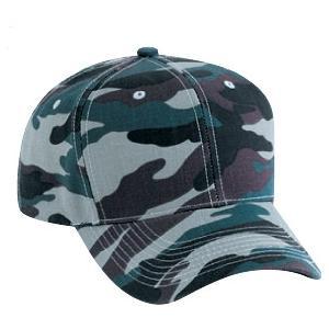 Otto Cap Camo Cotton Twill Pro-Style Cap - Olive / Black / Brown, Discount ID 44-051-210307