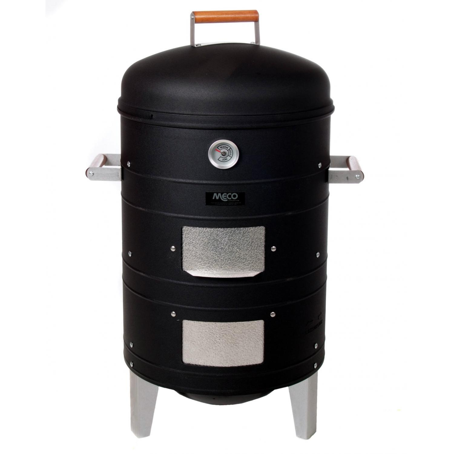 Meco Charcoal Water Vertical BBQ Meat Smoker - Black - 5023I - 5023I4.181