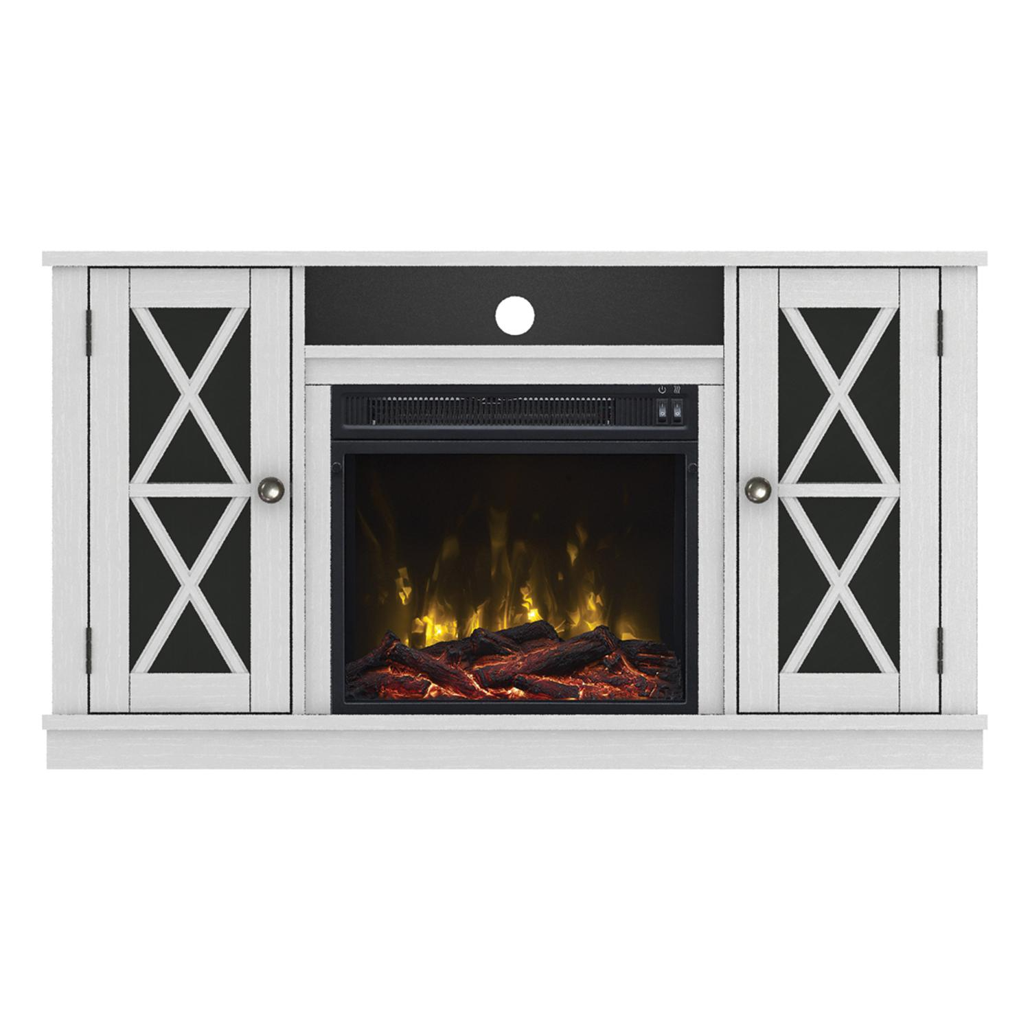 "Classicflame Bayport 47 1/2"" Tv Stand With Electric Fireplace - White - 18mm6092-pt85s"