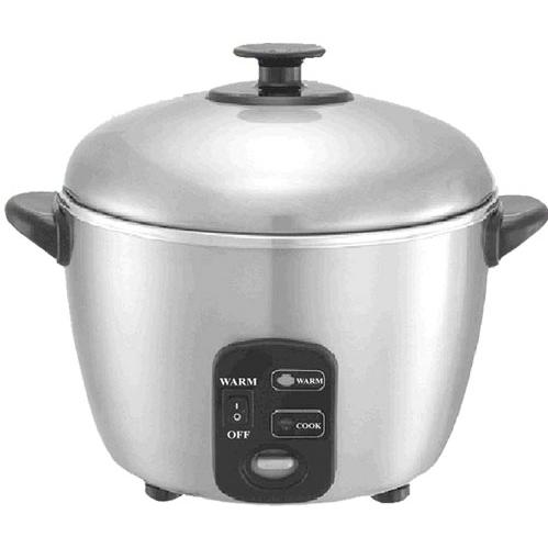 Sunpentown 3 Cups Stainless Steel Rice Cooker And Steamer - SC-886
