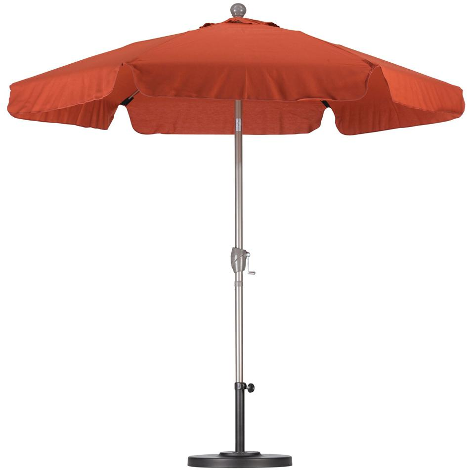 California Umbrella Hexagonal 7.5 Ft Fiberglass Patio 3-Way Tilt Umbrella With Crank Lift And Fiberglass Ribs 2909246