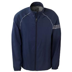 Adidas Golf Mens ClimaProof 3-Stripes Full-Zip Jacket 2XL - Navy/Sterling
