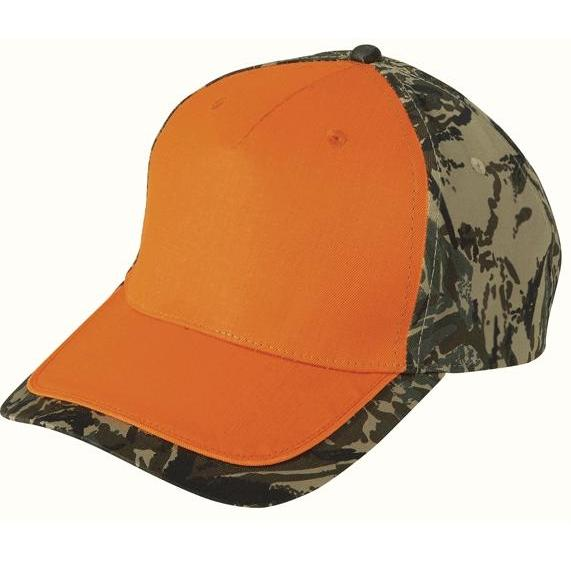 Cobra Caps FeatherFlage Camo Edge Cap - Flame Orange/BFT