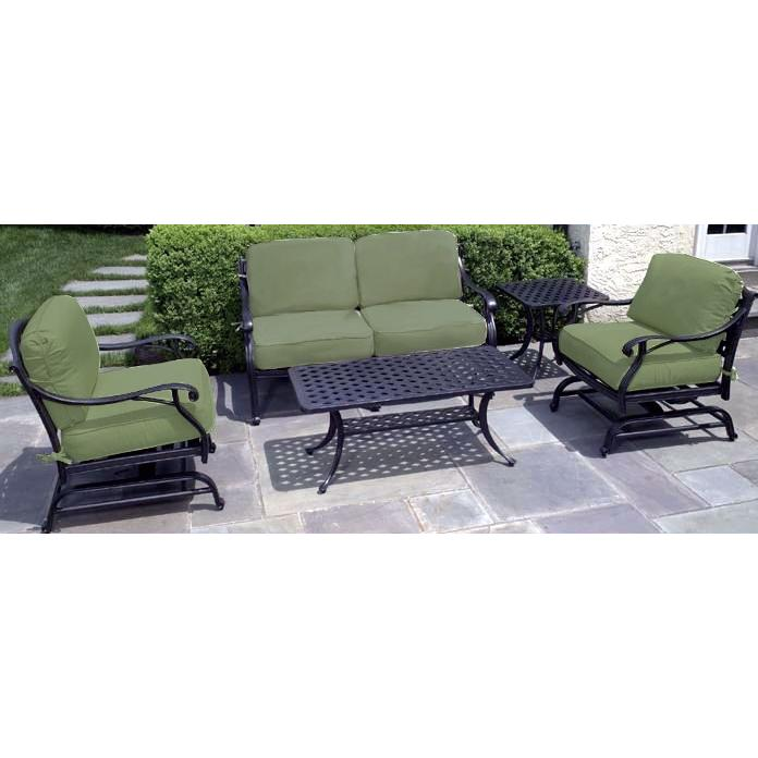 Alfresco Home Long Cove Lounge Set - Antique Fern