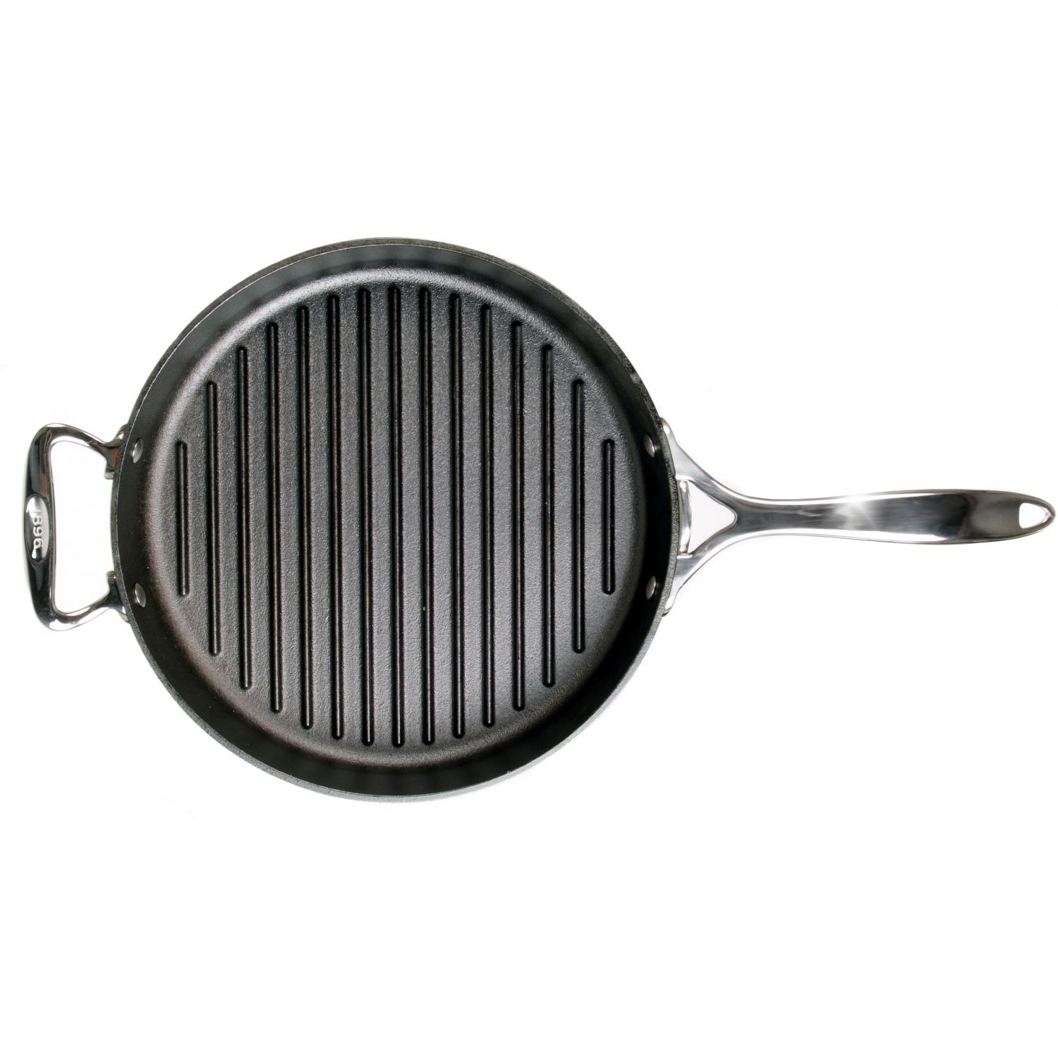 Lodge Pans 12 Inch Seasoned Signature Series Cast Iron Grill Pan - SS12GR