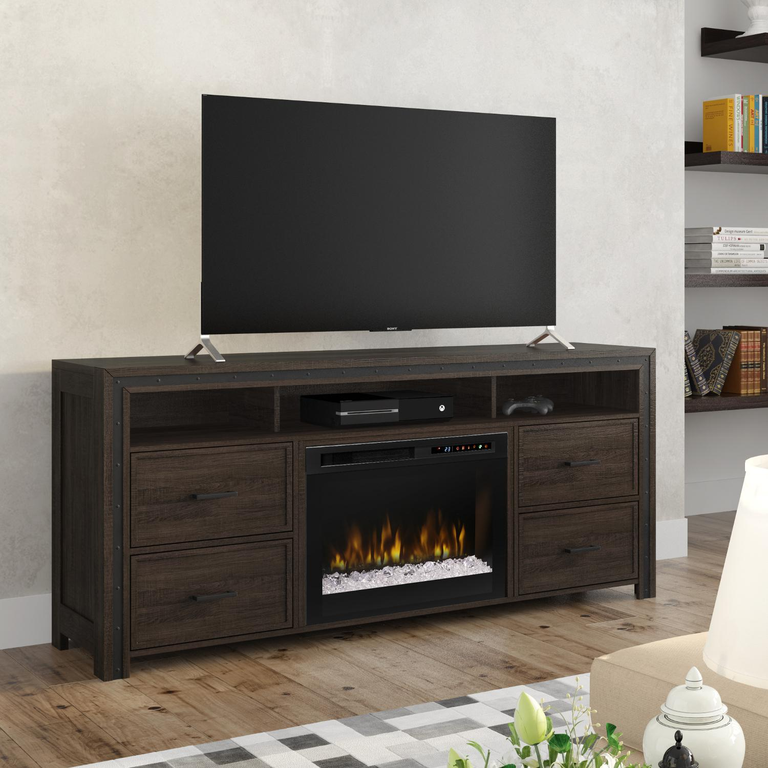 Dimplex Multi-Fire XHD Thom 66-Inch Electric Fireplace Me...