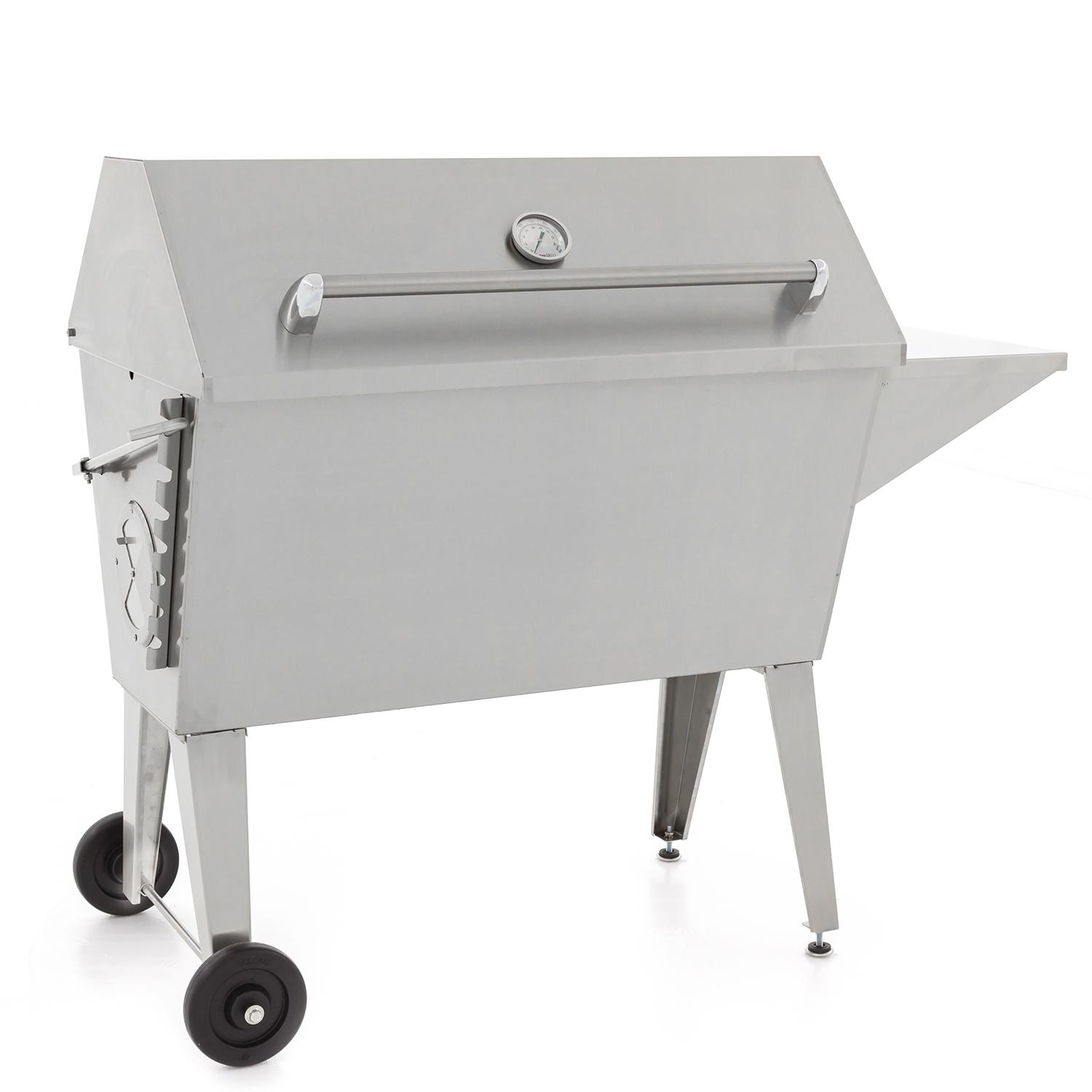 """Cajun Grill Super 36"""" Stainless Steel Charcoal Grill - Pgi-100ss"""