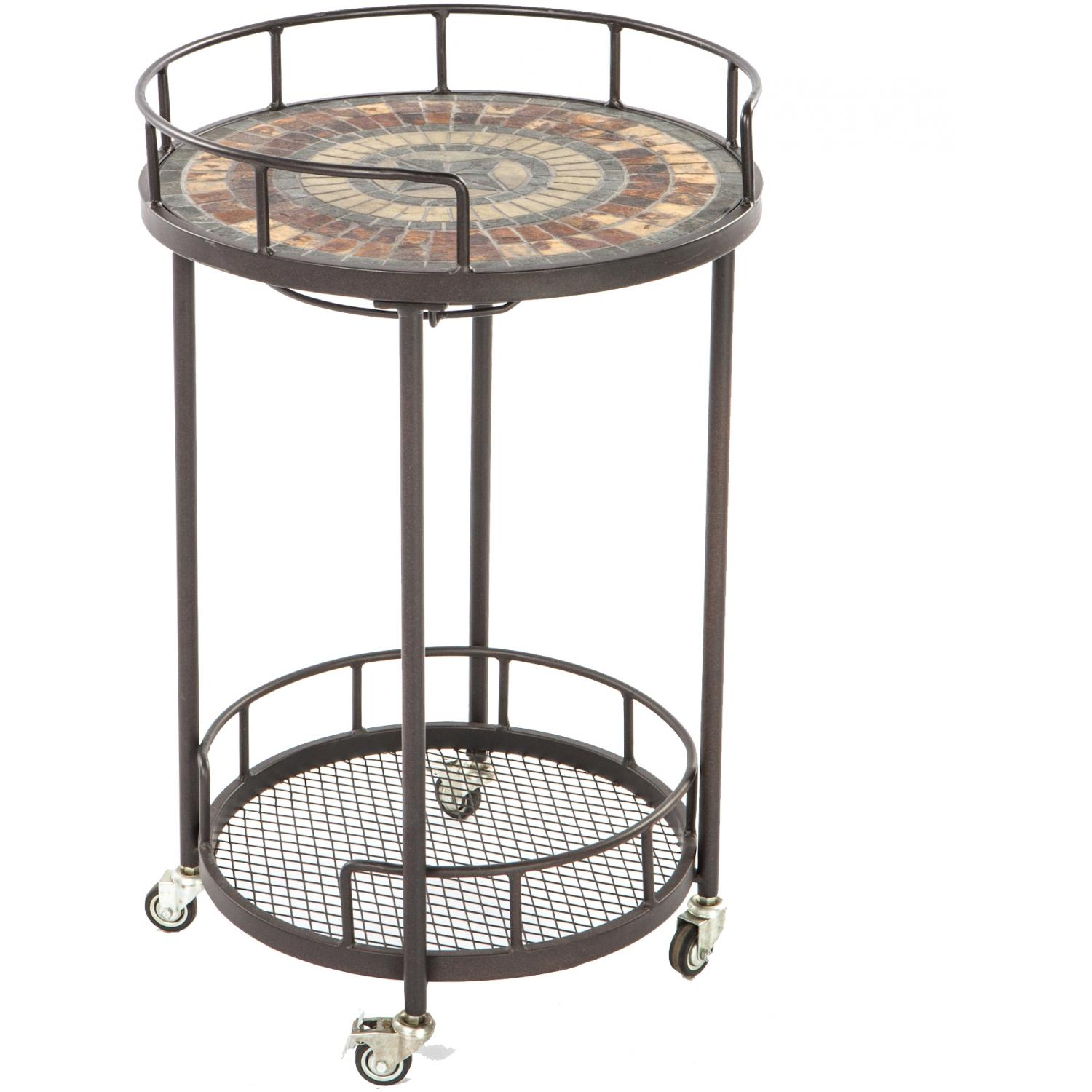 Alfresco Home Asti Mosaic Outdoor Serving Cart at Sears.com