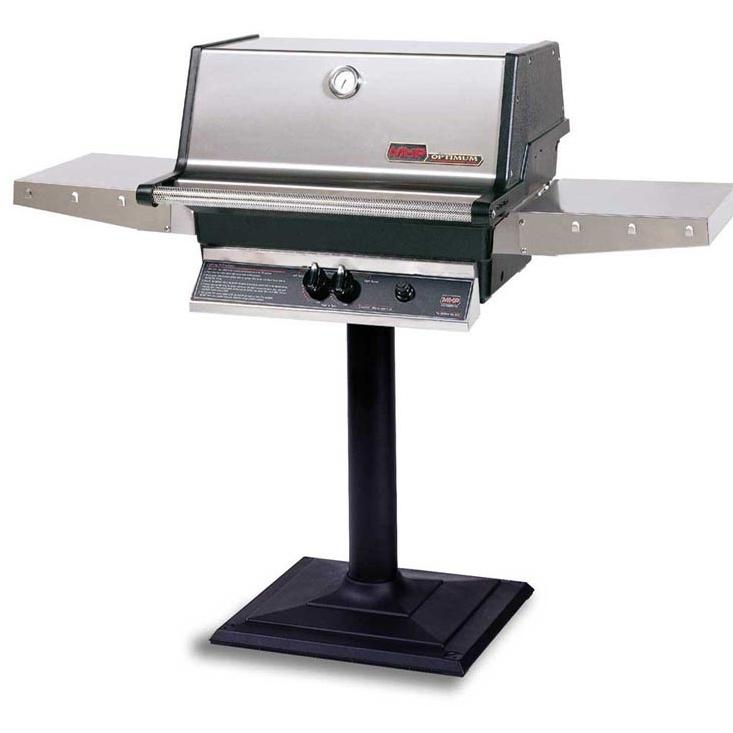 MHP Gas Grills TJK2 Propane Gas Grill W/ SearMagic Grids On Bolt Down Post