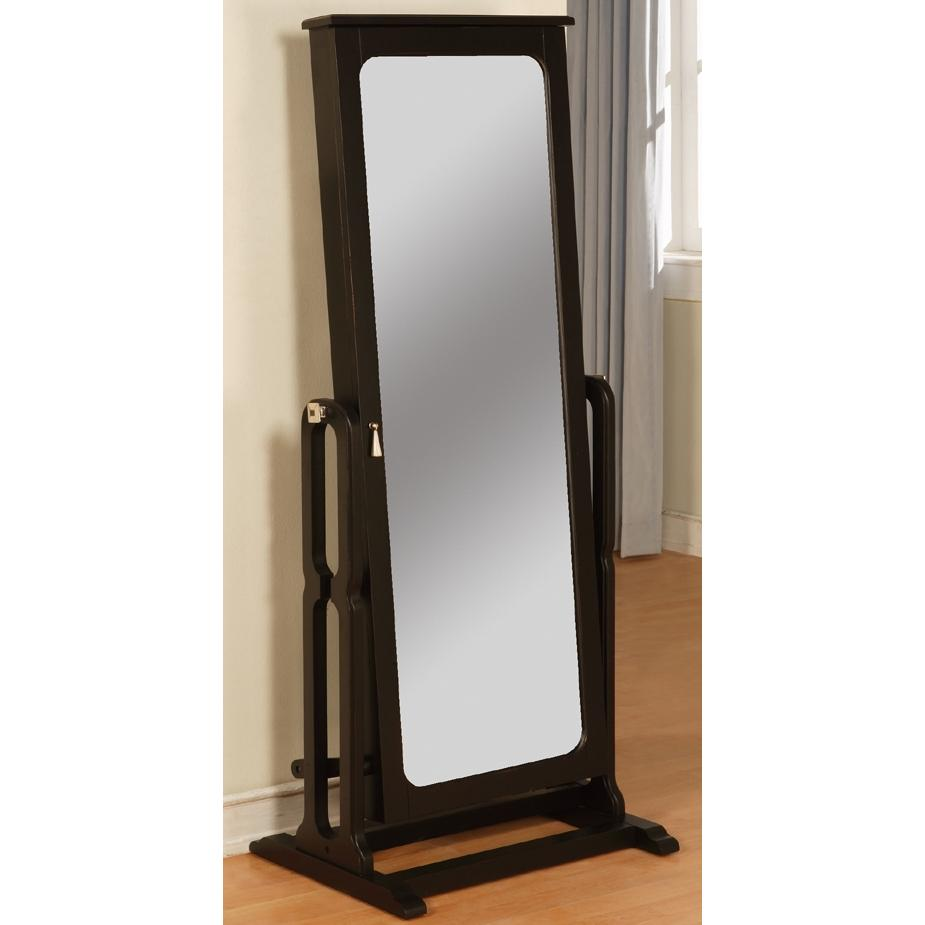 Powell Furniture - Antique Black Cheval Jewelry Wardrobe - 502-551