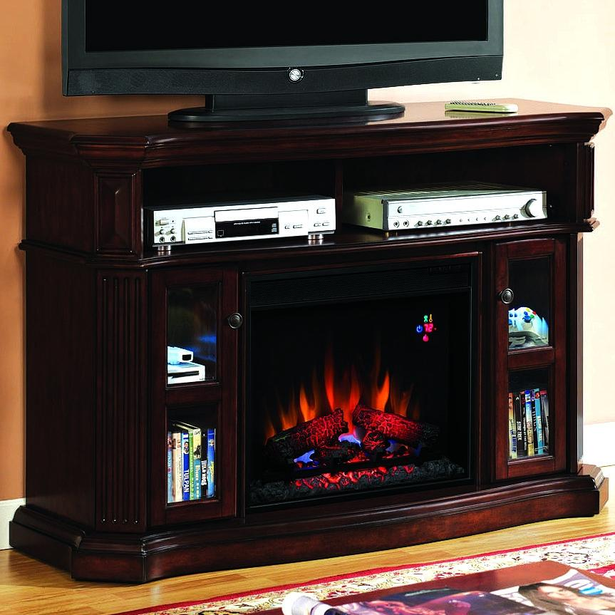 Picture of Aberdeen 54-Inch Electric Fireplace Media Console - Cocoa Cherry - 23MM1297
