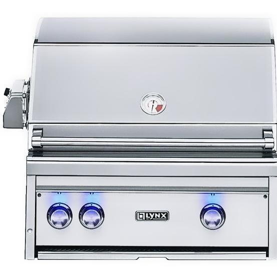Lynx 27-Inch Built-In Propane Gas Grill With ProSear Burner And Rotisserie L27PSR-3-LP 2855982