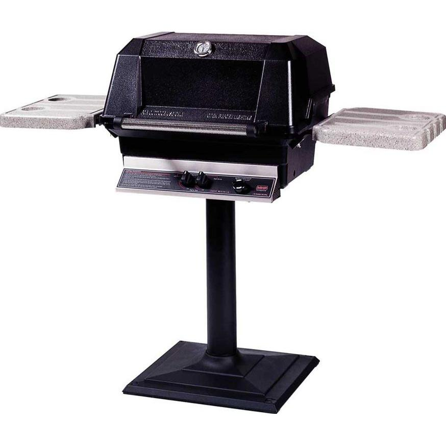 MHP Gas Grills WNK4 Propane Gas Grill W/ SearMagic Grids On Bolt Down Post