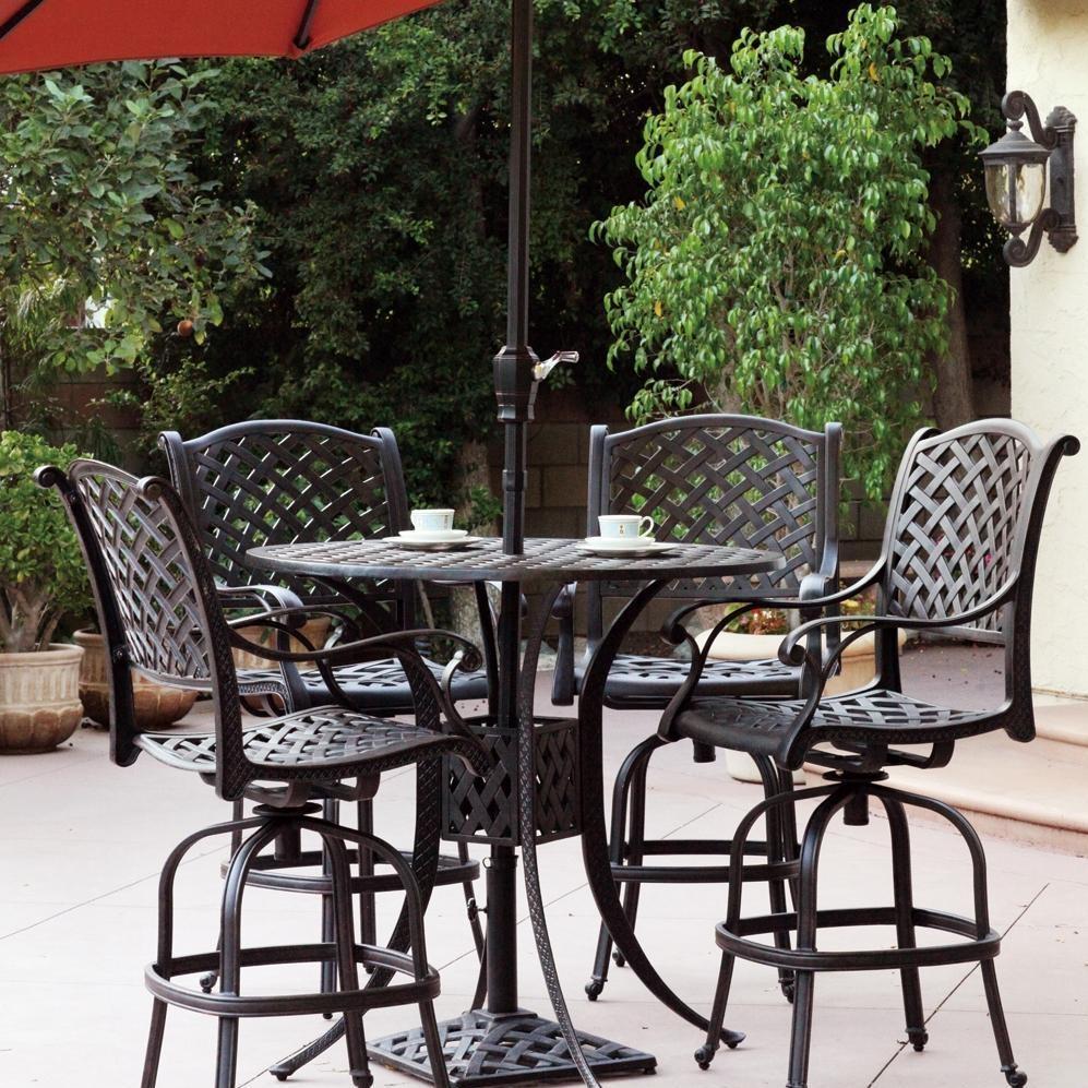 Darlee Sedona 4 Person Cast Aluminum Patio Bar Set Antique Bronze Discount