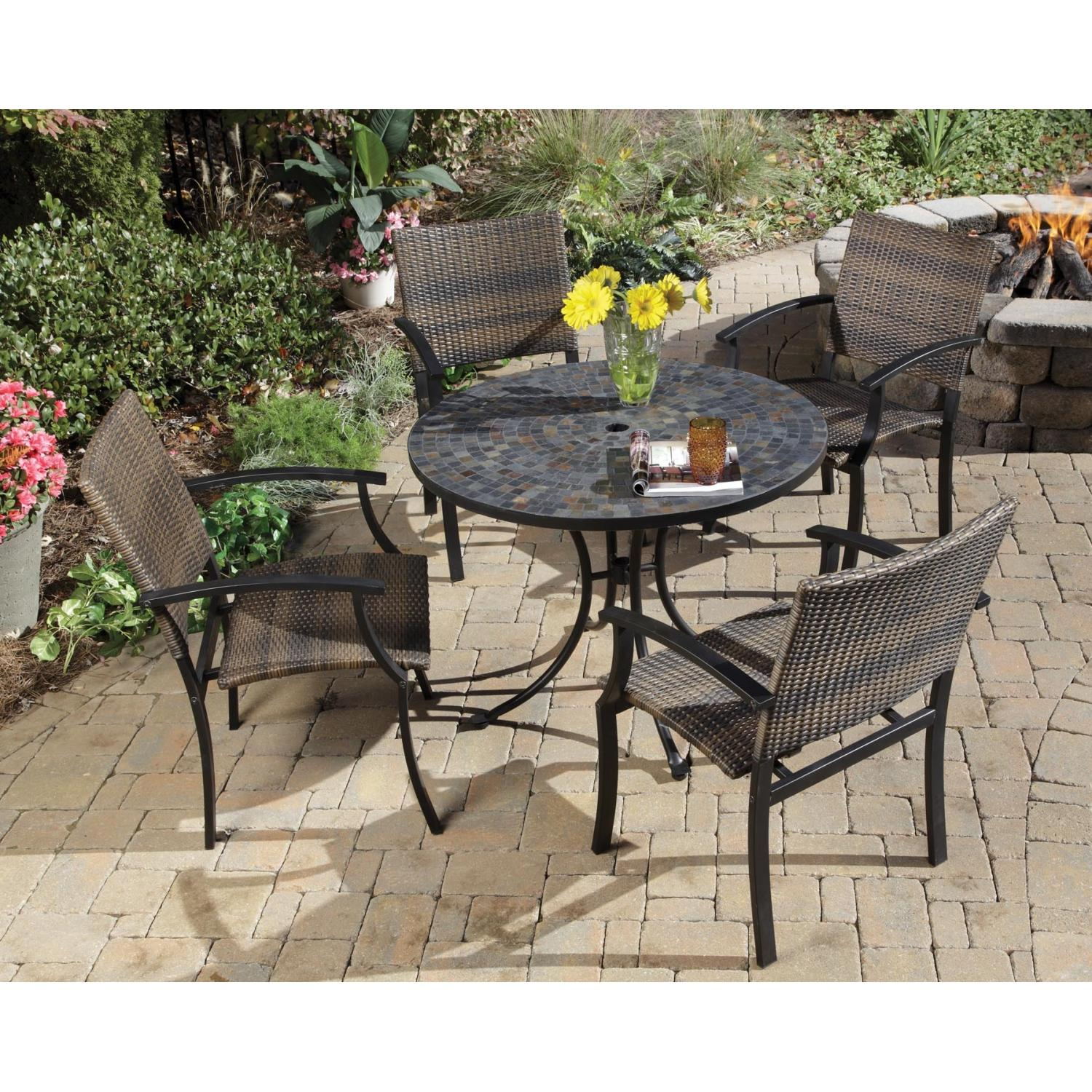 Home Styles Stone Harbor And Newport Outdoor Patio Dining Set