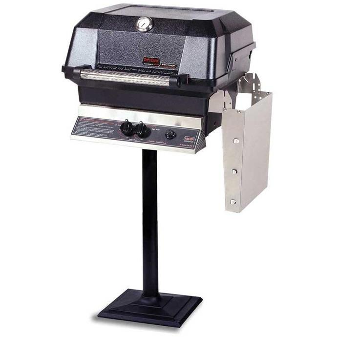 MHP Gas Grills JNR4DD Propane Gas Grill W/ SearMagic Grids On Bolt Down Post