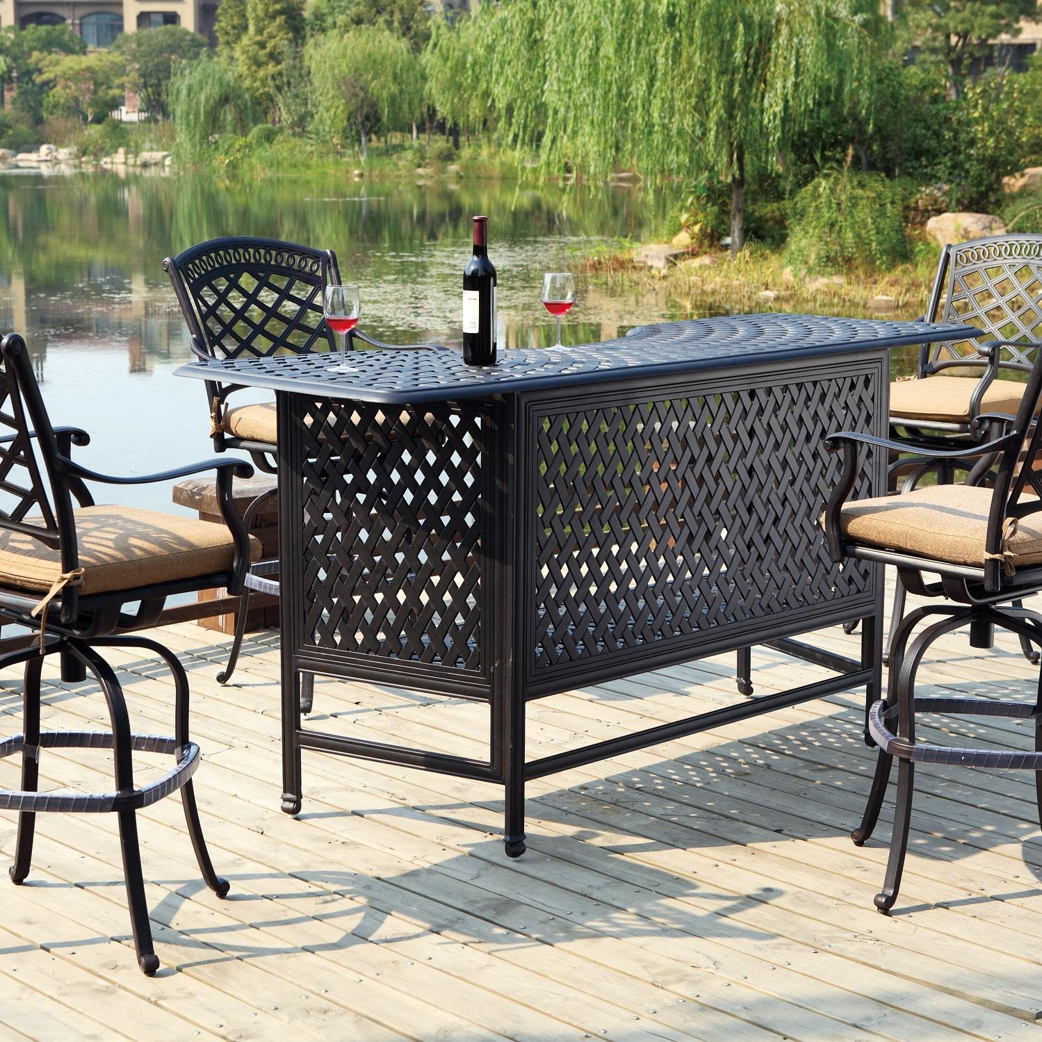 Outdoor patio bar set patio design ideas for Metal patio furniture sets