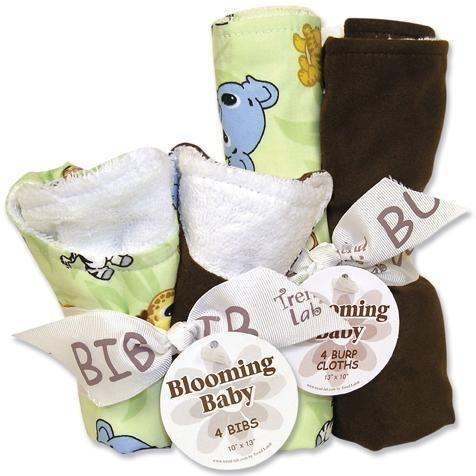 Trend Lab Bib And Burp Cloth Set - Chibi Zoo