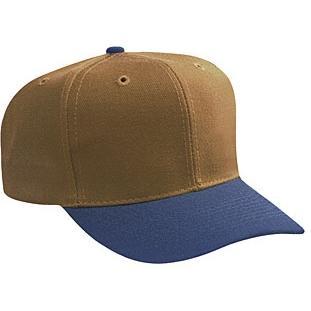 Otto Cap Wool Blend Pro-Style Sport Cap - Navy / Dk.Caramel, Discount ID 27-211-0433
