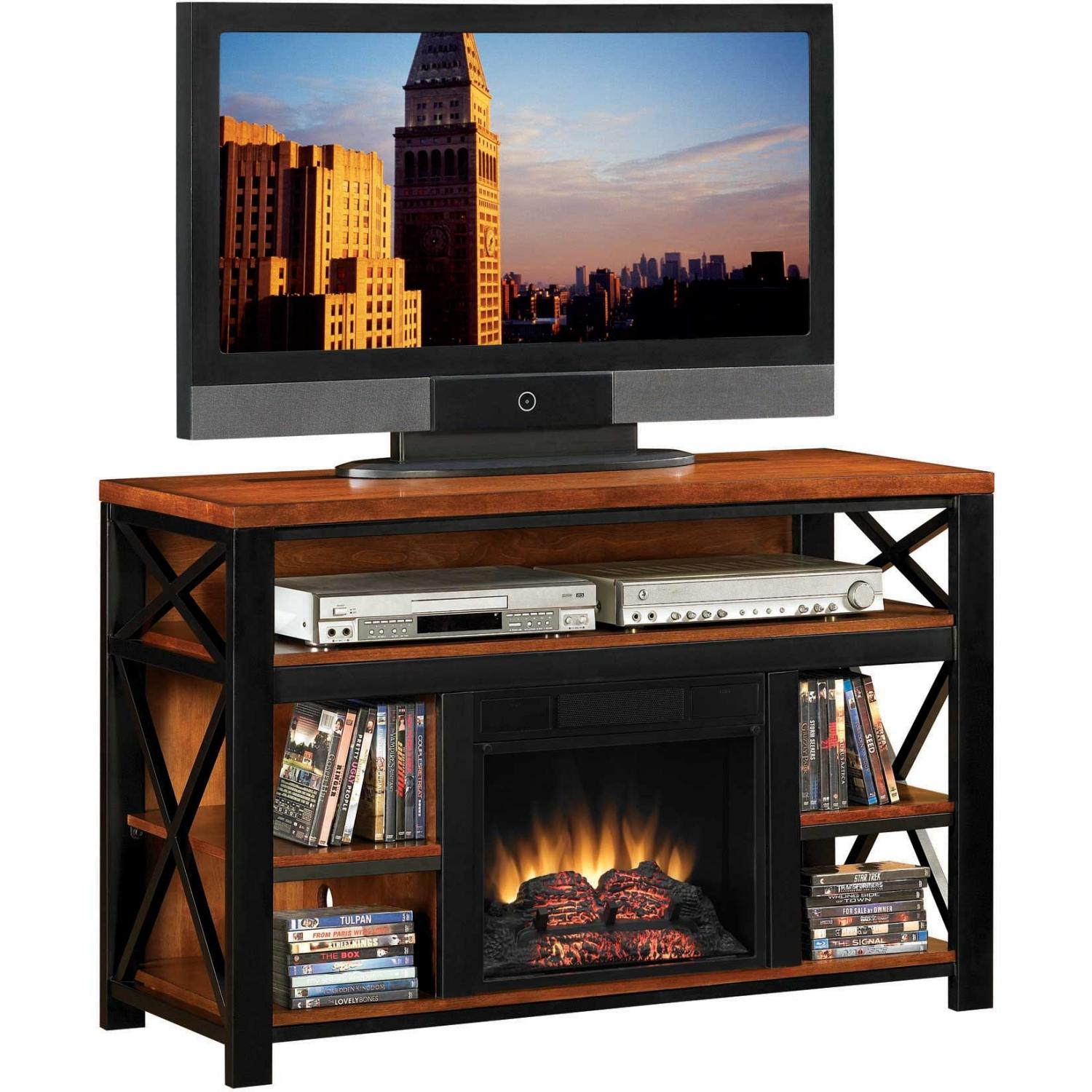 ClassicFlame 18MM3207- M250 Advantage Equinox Electric Fireplace With Media Console - Rustic Birch With Black Metal