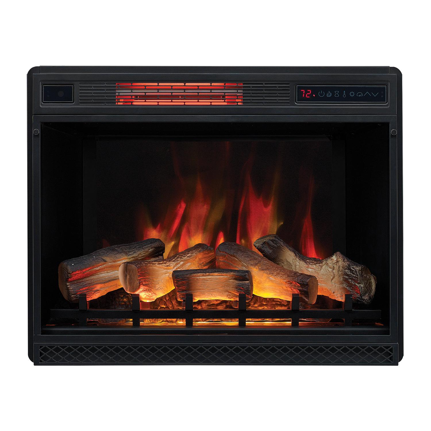 "Classicflame Spectrafire 28"" 3d Infrared Quartz Electric Fireplace Insert With Safer Plug And Safer Sensor - 28ii042fgl"