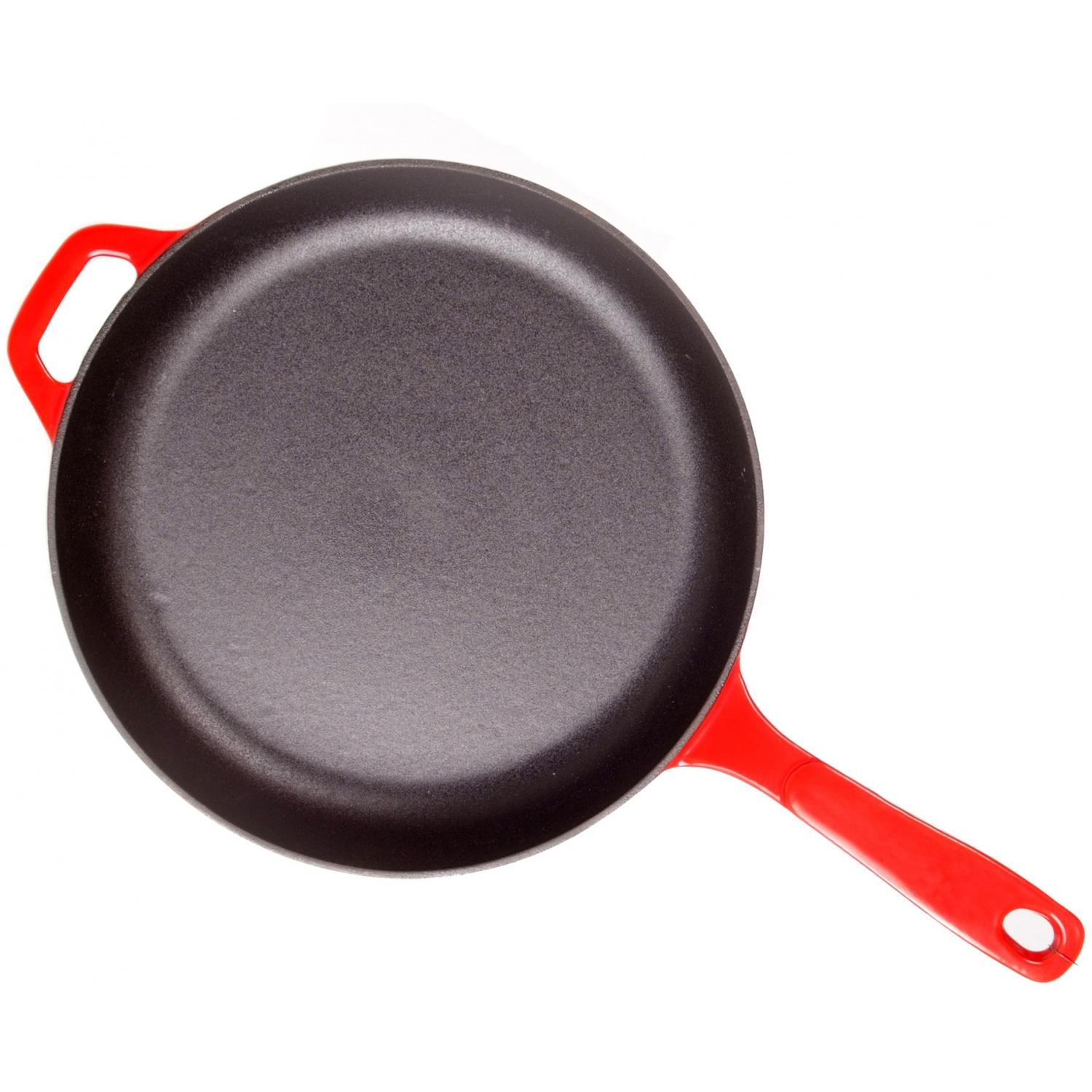 Lodge Skillets Island Spice Cast Iron Enamel Skillet, Gradated Red - EC11S43