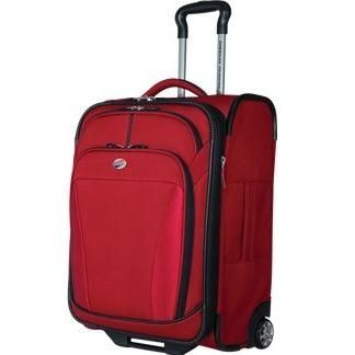 American Tourister ILite DLX 21 Inch Carry-On Rolling Luggage - Red