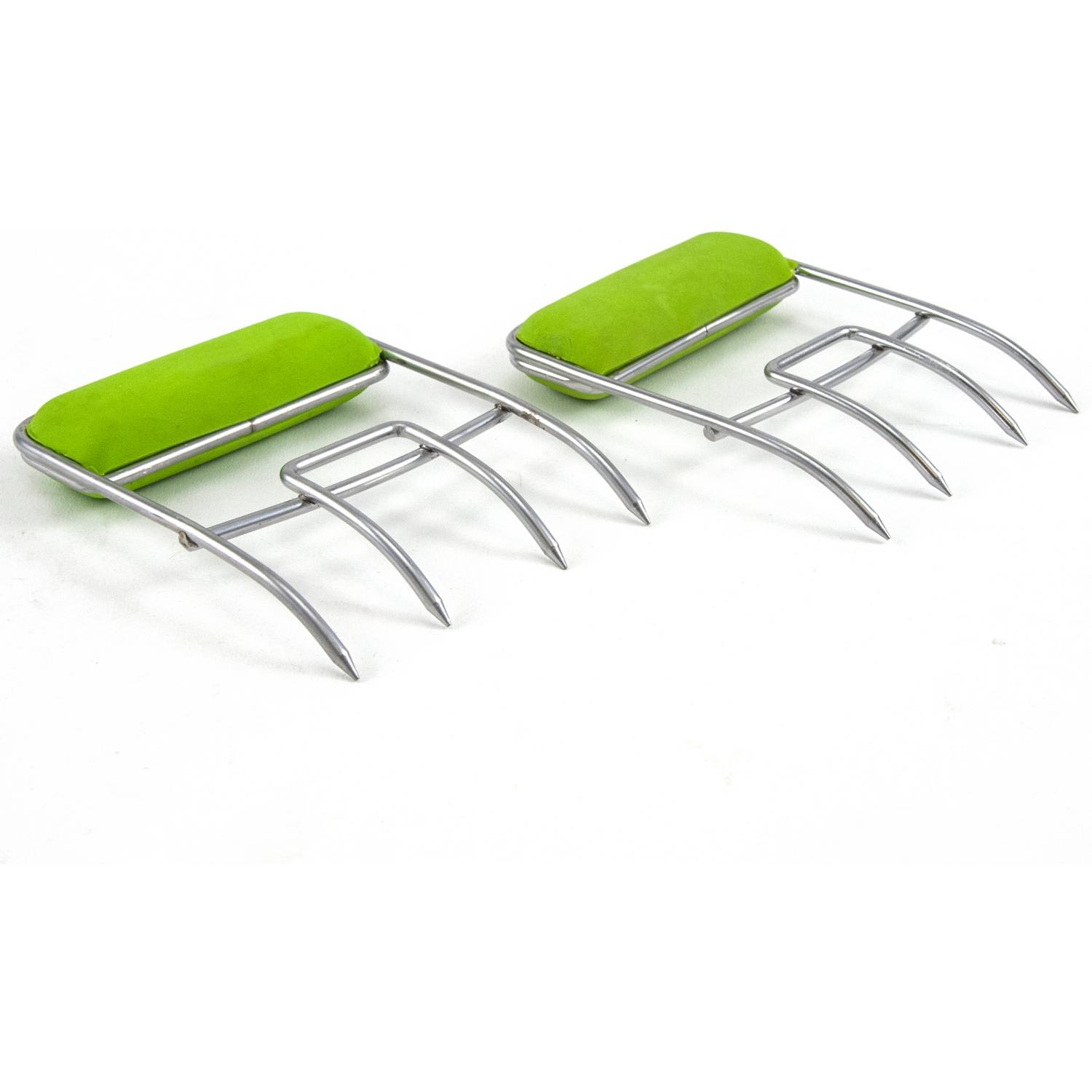 Colored Stainless Steel Meat Claws - Green
