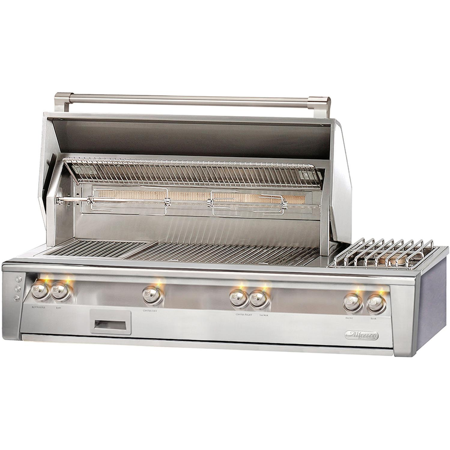 Alfresco LXE 56-Inch Built-In Propane Gas Deluxe Grill With Sear Zone, Rotisserie, And Side Burner - ALXE-56SZ-LP 2911938