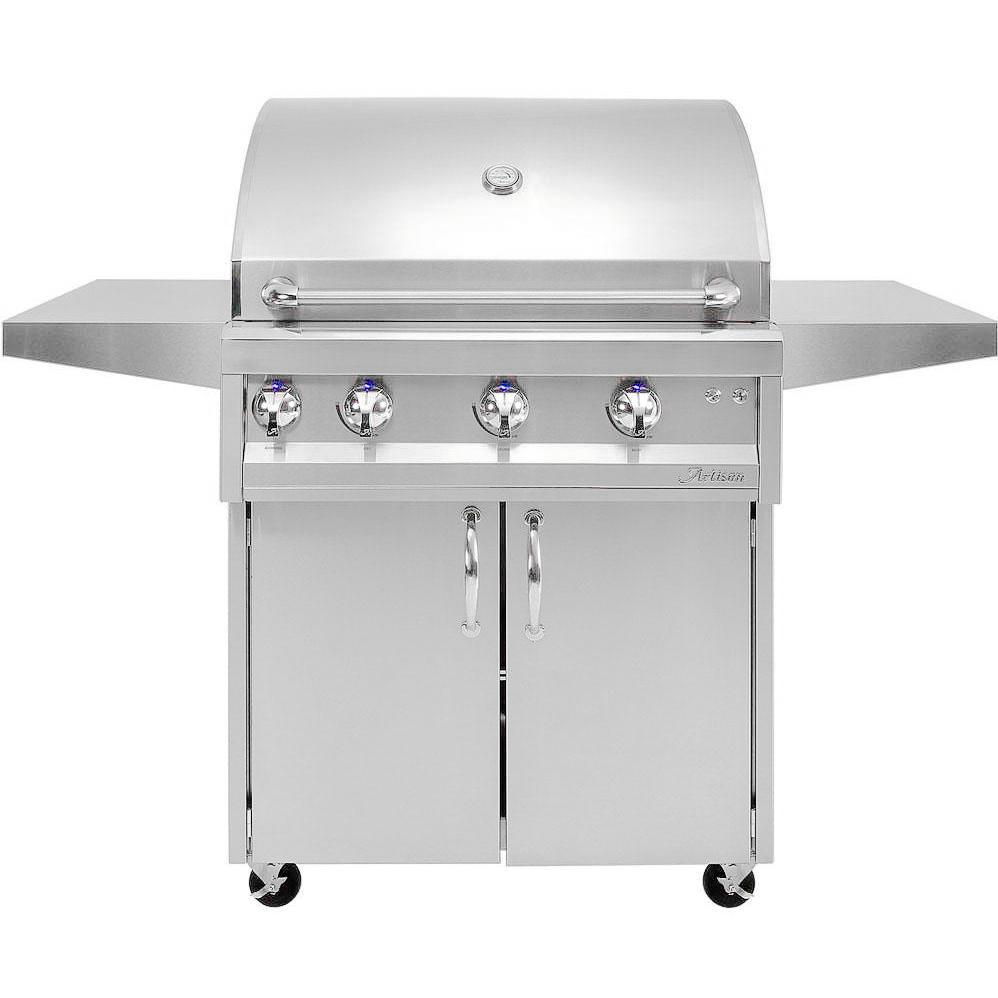 "Artisan Professional 36"" 3-burner Natural Gas Grill With Rotisserie - Artp-36c-ng"