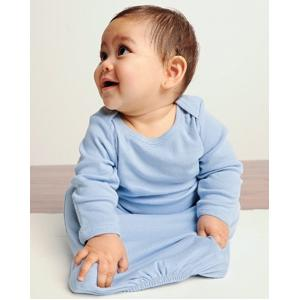Bella Baby Infant Baby Rib Sleeper Gown 12 Month - Baby Blue