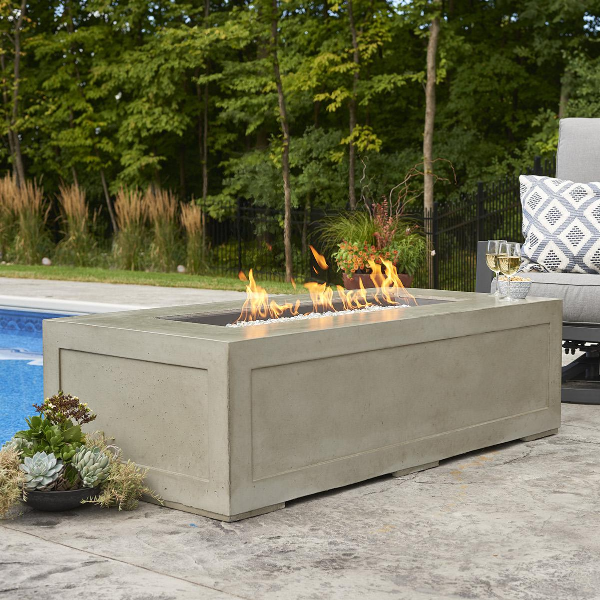 Outdoor GreatRoom Cove 54-Inch Linear Natural Gas Fire Pi...