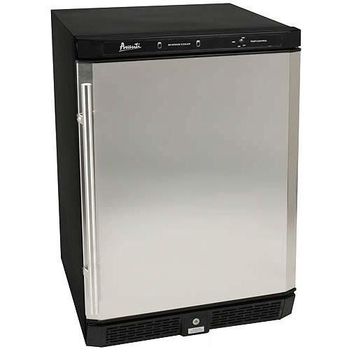 Avanti BCA5102SS-1 5.3 Cu. Ft. Compact Built-In Refrigerator / Beverage Center- Black / Stainless Steel Door