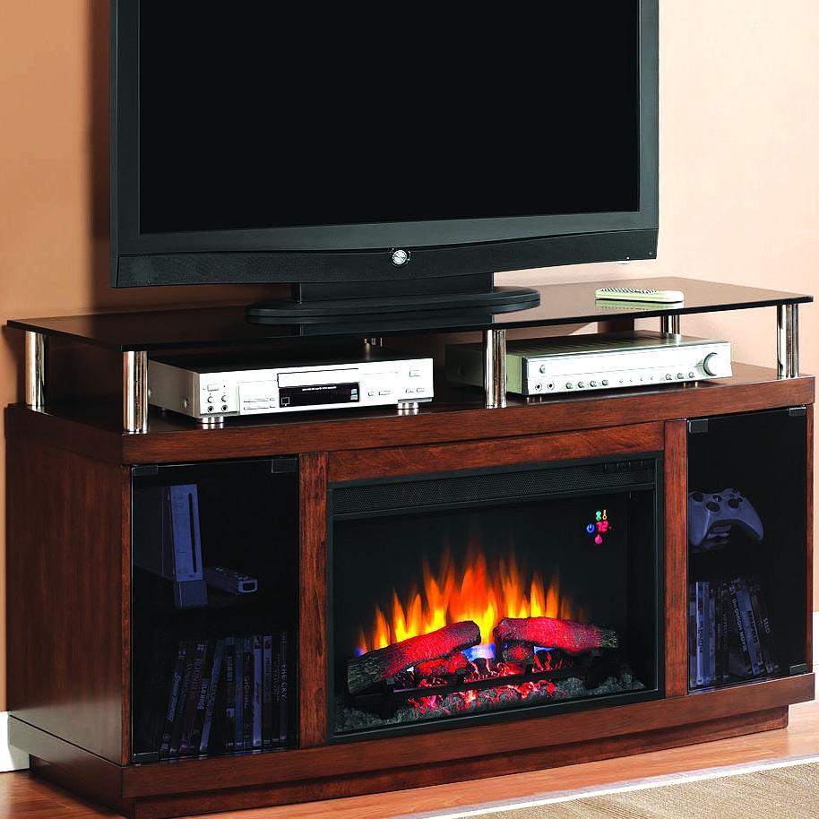 Drew 54-inch Electric Fireplace Media Console - Autumn Birch - 26mm9405