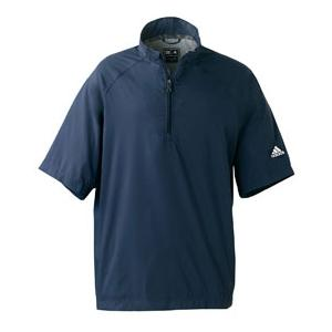 Adidas Golf Mens ClimaProof Short Sleeve Wind Shirt 2XL - Navy/Sterling