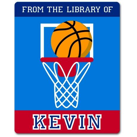 Olive Kids Personalized Book Plate - Game On Basketball