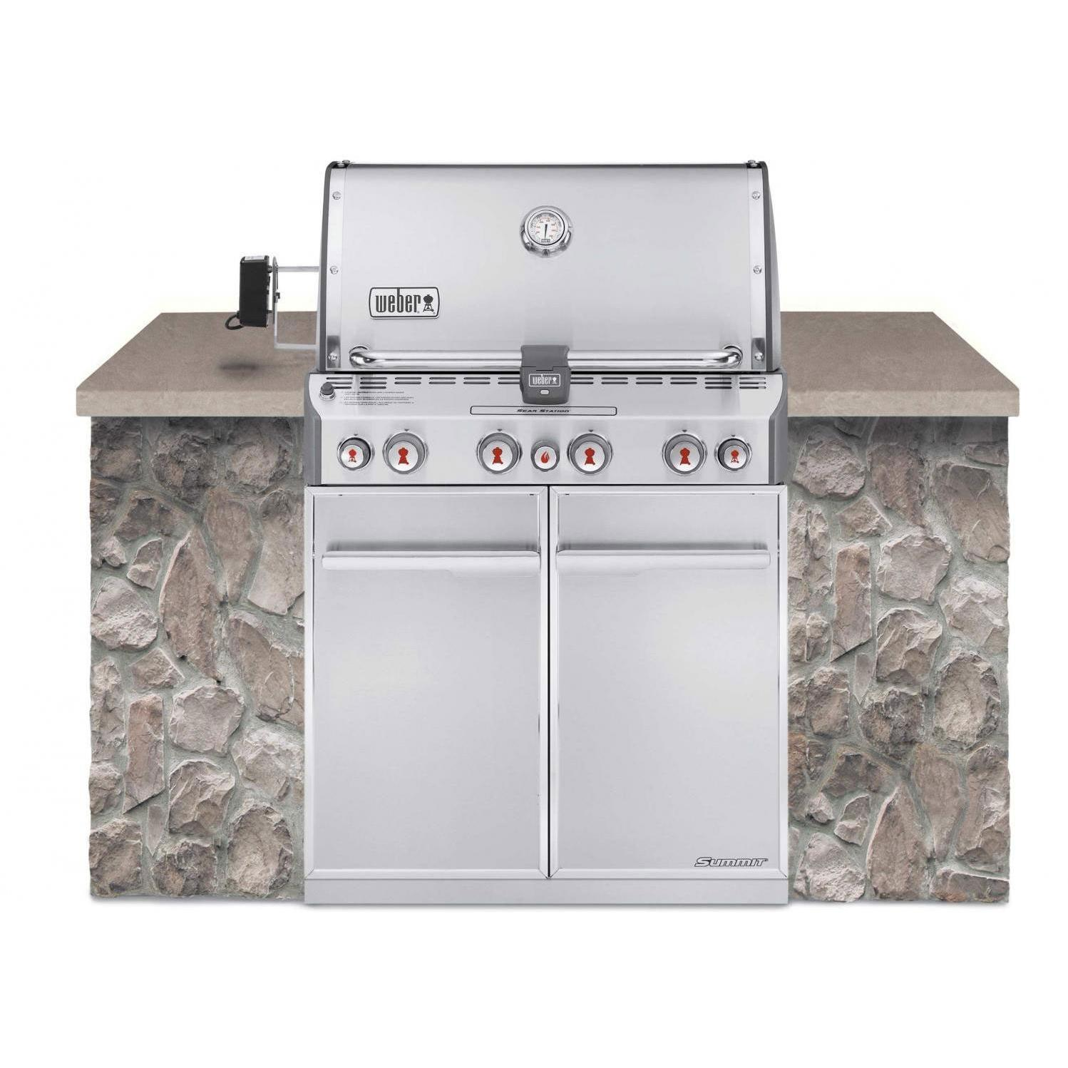 Weber Summit S-460 Built-In Propane Gas Grill With Rotisserie & Sear Burner 2786298